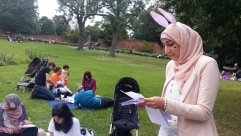 The Alice Quiz is led by the White / Pink Rabbit!