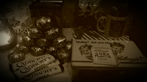 Rations of chocolate...