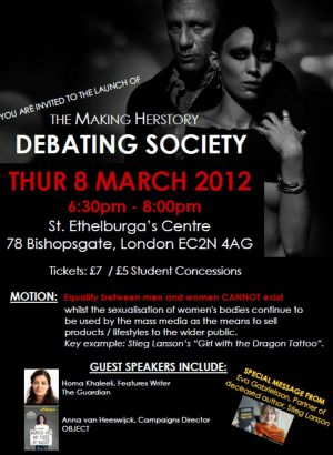 Debate Soc Launch poster