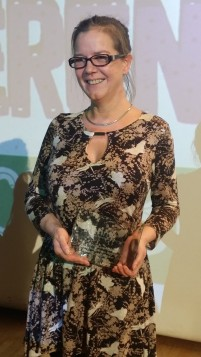 Davina James-Hanman, winner of the Special Award for 30 years of working against gender-based violence.