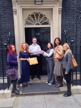 Petition containing thousands of signatures handed over (Image: Child Eyes)