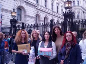 The fantastic Child Eyes UK team just before they head into No.10 Downing Street
