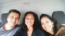 Atif, Homaira and Dahlia - ready to hit the road!