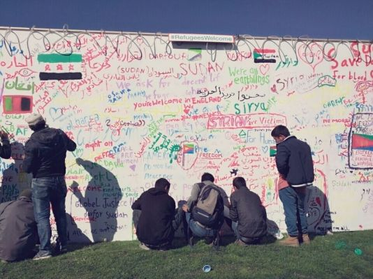 Refugees add their messages of hope