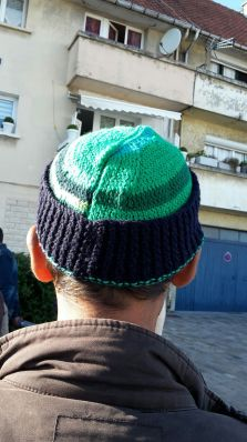 Hand-knitted hats by Rose were welcomed warmly!