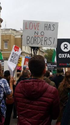Passionate calls to the UK government filled the streets of London.