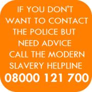 call helpline not police