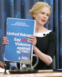 "Nicole Kidman, UNIFEM Goodwill Ambassador, at Press Conference for UNIFEM's ""Say No to Violence against Women"" Campaign"