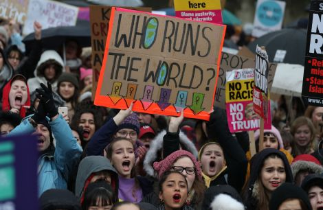 BRITAIN-US-POLITICS-DEMONSTRATION-PROTEST-WOMEN'S MARCH-RIGHTS